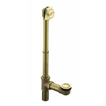 Kohler K-7167-PB Adjustable Pop-Up High Volume Drain with Tailpiece - Polished Brass