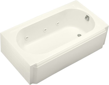 Kohler K-724-H2-96 Memoirs 5' Whirlpool With Drain At Right - Biscuit