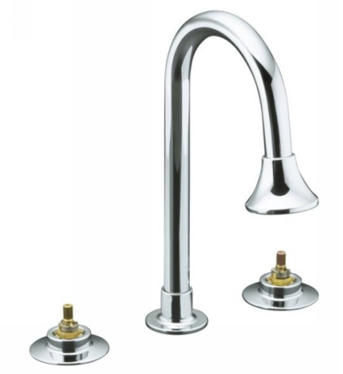 Kohler K-7303-KC-CP Triton Widespread Lavatory Faucet Only Base Faucet - Polished Chrome