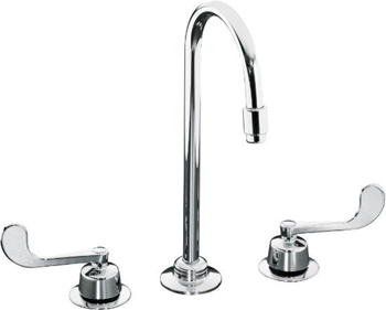 Kohler K-7304-5A-CP Triton Two-Handle Widespread Lavatory Faucet - Polished Chrome