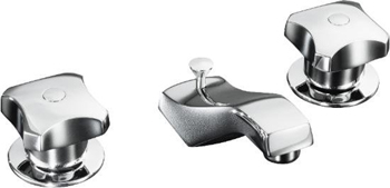 Kohler K-7437-2A-CP Triton Two-Handle Widespread Lavatory Faucet - Polished Chrome