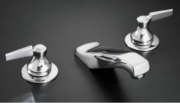 Kohler K-7443-K-CP Triton Widespread Lavatory Faucet Requires Handles - Polished Chrome (Handles Not Included)
