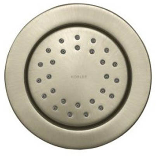 Kohler K-8013-BN Traditional Round 27-Nozzle MasterClean Fixed Body Spray from WaterTile Collection - Brushed Nickel