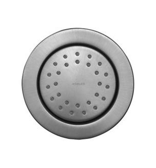 Kohler K-8013-G WaterTile Round 27-Nozzle Bodyspray with Stimulating Spray - Brushed Chrome