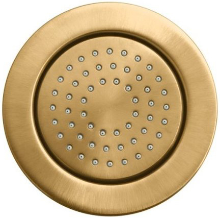 Kohler K-8014-BV WaterTile Round 54-Nozzle Bodyspray with Soothing Spray - Brushed Bronze