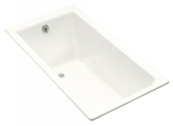 Kohler K-804-R-0 Kathryn 5.5 Foot Bath With Tile Flange and Right Hand Drain - White