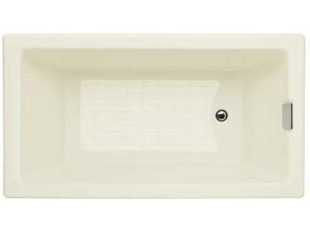 Kohler K-855-96 Tea-For-Two 5.5 Foot Bath - Biscuit