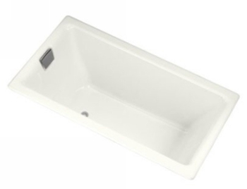 Kohler K-855-R-0 Tea-For-Two 5.5 Foot Bath With Tile Flange And Right Hand Drain - White