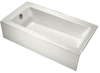 Kohler K-875-0 Bellwether Bath With Integral Apron And Left-Hand Drain - White