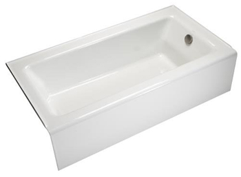 Kohler K-876-0 Bellwether Bath With Integral Apron And Right-Hand Drain - White