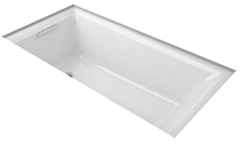 Kohler K-895-0 Cast Iron Undermount Bath Tub from the Parity Collection - White