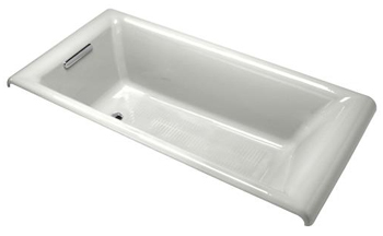 Kohler K-896-FF Cast Iron Drop-In Bath Tub from the Parity Collection - Sea Salt