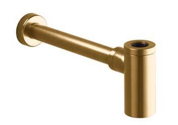 Kohler K-9033-BV Contemporary Round Brass Bottle P-Trap - Brushed ...