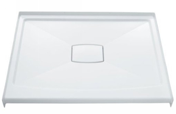Kohler K-9393-96 Archer 42x42 Shower Receptor With Removable Drain Cover - Biscuit