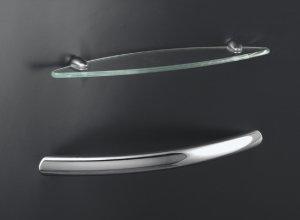 Kohler K 9459 Cp Sonata Grab Bar Glass Shelf Accessory Kit