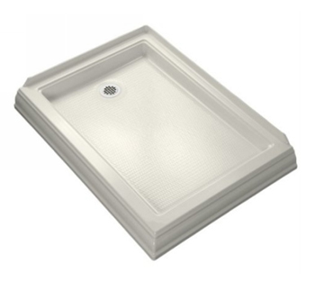 Kohler K-9547-96 Memoirs Shower Receptor With Left Hand Drain - Biscuit