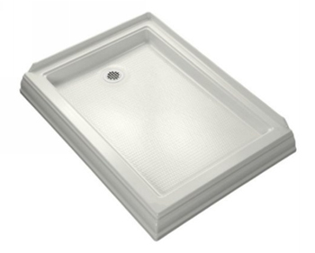 Kohler K-9547-0 Memoirs Shower Receptor With Left Hand Drain - White
