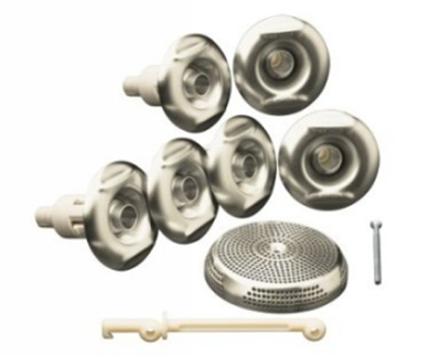 Kohler K-9696-BN Flexjet Whirlpool Trim Kit with Six Jets - Brushed Nickel