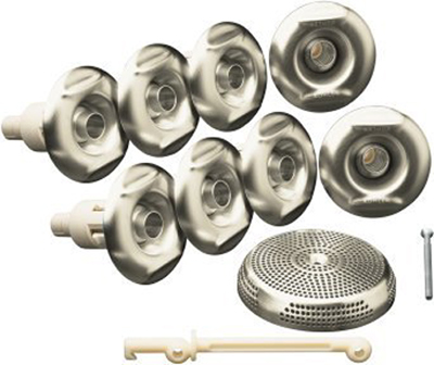 Kohler K-9698-BN Flexjet Whirlpool Trim Kit with Eight Jets - Brushed Nickel