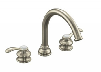 Kohler K-T12885-4-BN Fairfax Two Handle Roman Tub Faucet Trim Kit - Brushed Nickel