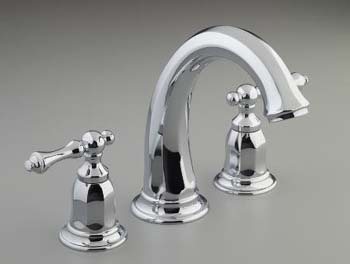 Kohler K-T13494-4-CP Double Handled Deck-Mounted Bath Faucet Trim from the Kelston Collection - Polished Chrome