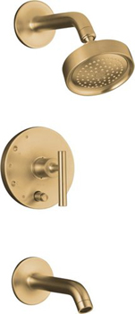 Kohler K-T14420-4-BV Purist One Handle Tub & Shower Faucet Trim Kit - Brushed Bronze