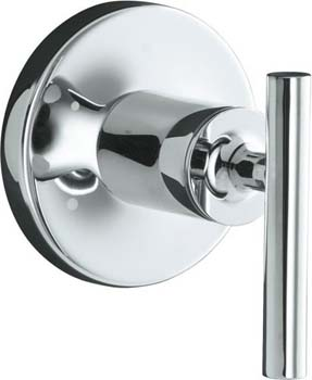 Kohler K-T14491-4-AF Purist Transfer Valve Trim with Lever Handle - Vibrant French Gold (Pictured in Chrome)
