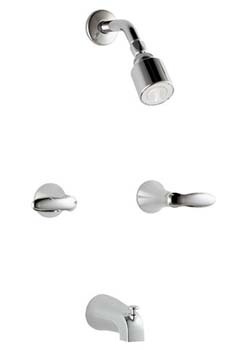 Kohler K-T15201-4S-CP Coralais Two-Handle Bath and Shower Faucet Trim - Polished Chrome