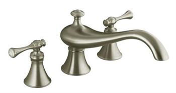 Kohler Faucet K-T16122-4A-BN Two Handle Roman Tub Faucet Trim Kit - Brushed Nickel