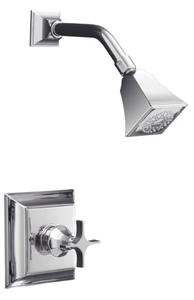 Kohler K-T462-3S-2BZ Memoirs Single Handle Shower Only Faucet Trim - Oil Rubbed Bronze (Pictured in Chrome)