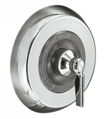 Kohler K-T6913-4-CP One-Handle Valve Only Trim - Polished Chrome