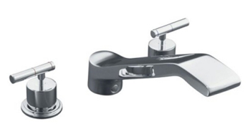 Kohler K-T8230-4-CP Taboret Two Handle Roman Tub Faucet Trim Kit - Polished Chrome