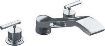 Kohler K-T8238-4-CP Taboret Two Handle Roman Tub Faucet Trim Kit - Polished Chrome
