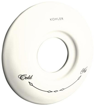 Kohler K-10140-0 Ceramic Escutcheon - White