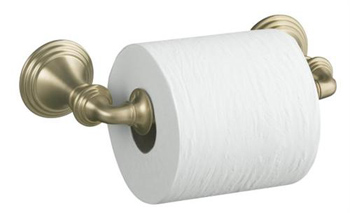 Kohler K10554BV Devonshire Toilet Tissue Holder Double Post - Vibrant Brushed Bronze