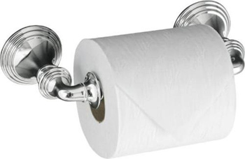 Kohler K-10554-CP Devonshire Toilet Tissue Holder Double Post - Polished Chrome