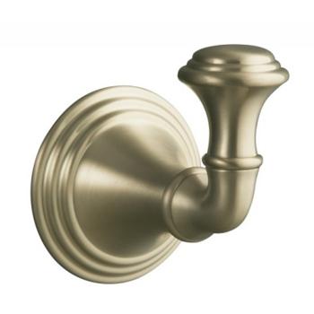 Kohler k10555bv devonshire robe hook vibrant brushed for Vibrant brushed bronze bathroom lighting