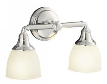 Kohler K-10571-CP Devonshire Double Light Sconce - Polished Chrome