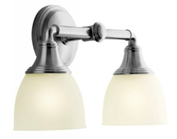 Kohler K-10571-G Devonshire Double Wall Sconce - Brushed Chrome