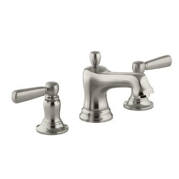 Kohler K-10577-4-BN Bancroft Widespread Lavatory Faucet With Metal Lever Handles Vibrant Brushed Nickel