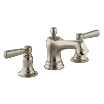 Kohler K-10577-4-BV Bancroft Widespread Lavatory Faucet With Metal Lever Handles Vibrant Brushed Bronze