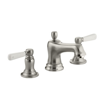 Kohler K-10577-4P-BN Bancroft Widespread Lavatory Faucet with Ceramic Lever Handles Vibrant Brushed Nickel