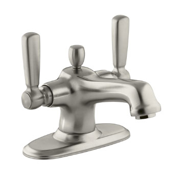 Kohler K-10579-4-BN Bancroft Two Handle Monoblock Lavatory Faucet Vibrant Brushed Nickel