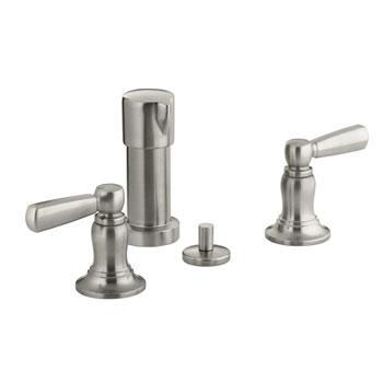 Kohler K-10586-4-BN Bancroft Bidet Faucet With Lever Handles Vibrant Brushed Nickel