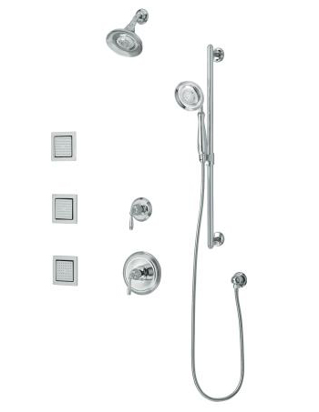 Kohler K108554CP Devonshire Luxury Performance Showering Package - Polished Chrome