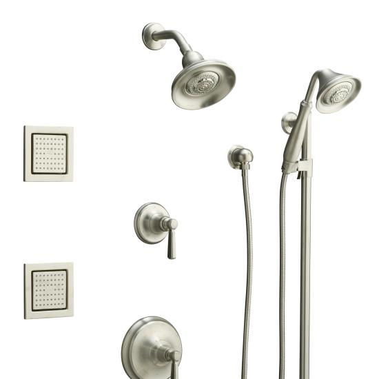 Kohler K108584BN Bancroft Luxury Performance Showering Package   Vibrant  Brushed Nickel