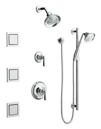 Kohler K108584CP Bancroft Luxury Performance Showering Package - Polished Chrome