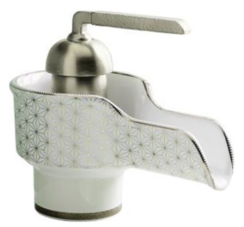 Kohler K11000VTWH Bol Ceramic Vessel Faucet - White With Silkweave Design