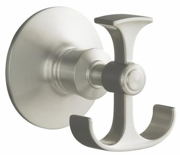 Kohler K11055CP Archer Robe Hook - Vibrant Polished Chrome (Pictured in Brushed Nickel)