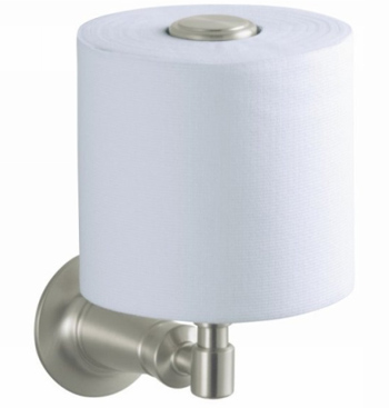 Kohler K11056BN Archer Vertical Toilet Tissue Holder - Vibrant Brushed Nickel
